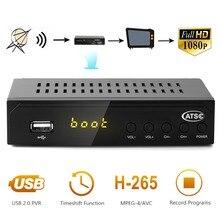 Hot sale Satellite TV Receiver 1080P ATSC Digital Converter Terrestrial Broadcast Tv Box Antenna USB Recording Playback