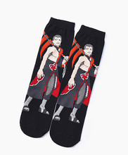 Naruto Cosplay Cartoon Black Sock