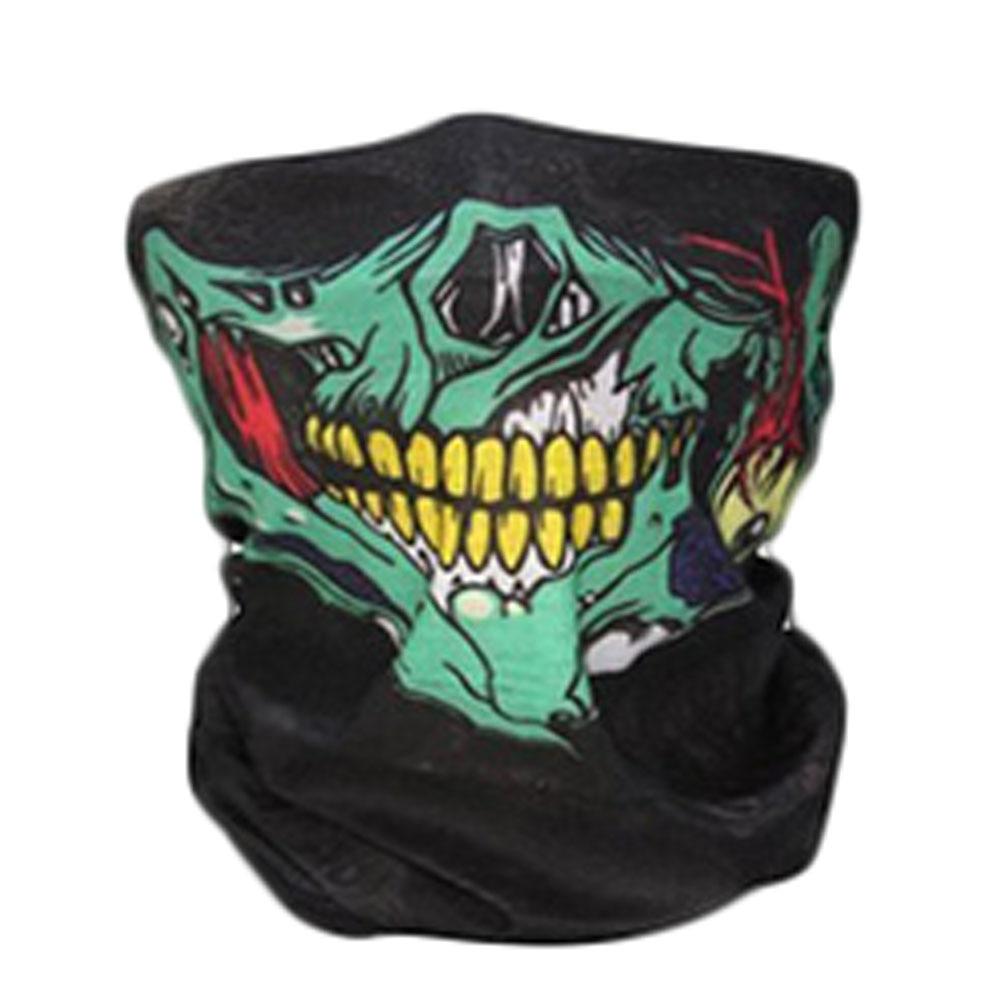8 colors New Skull Print Bike Camouflage Tube Neck Face Mask Headscarf Sport Headband Pick Skull Print Bandanas