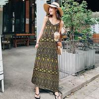 ZANZEA 2018 Women Summer Spaghetti Strap Boho Long Dress Plus Size Sexy V Neck Loose Vestidos