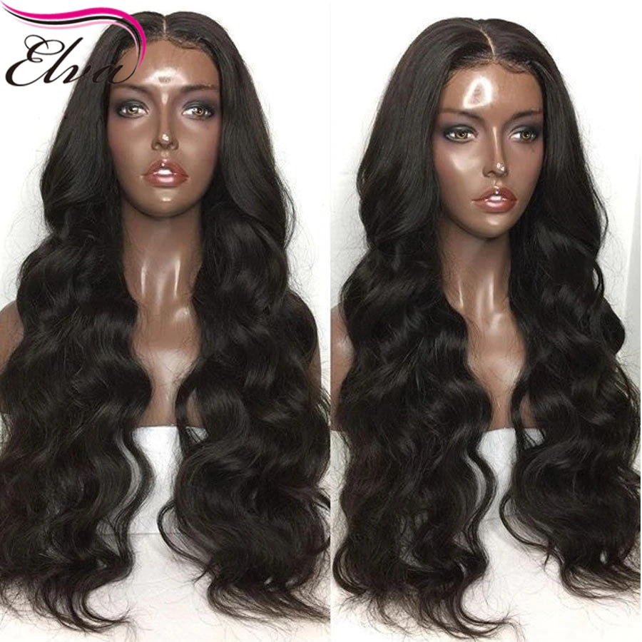 Fake Scalp Wig 13x6 Lace Front Human Hair Wig 150 Density Brazilian Remy Hair With Baby Hair PrePlucked Lace Wig For Black Women