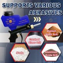Lematec pistola de gravidade para areia, arma spray de areia para remoção de ferrugem, ferramentas para ar, máquina abrasiva