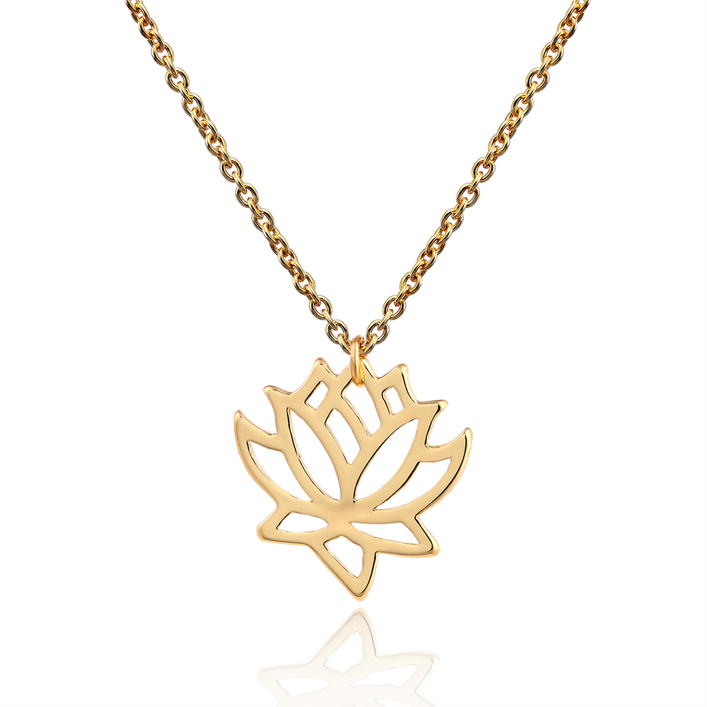 Lureme new simple lotus necklaces for women elegant vivid lotus lureme new simple lotus necklaces for women elegant vivid lotus flower pendant necklace nl004296 izmirmasajfo