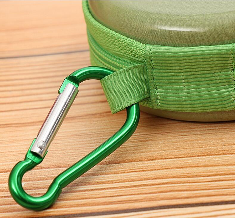 Lovely Creative Circular Zipper Travel Groda Tinplate Purse Söt - Plånböcker - Foto 4