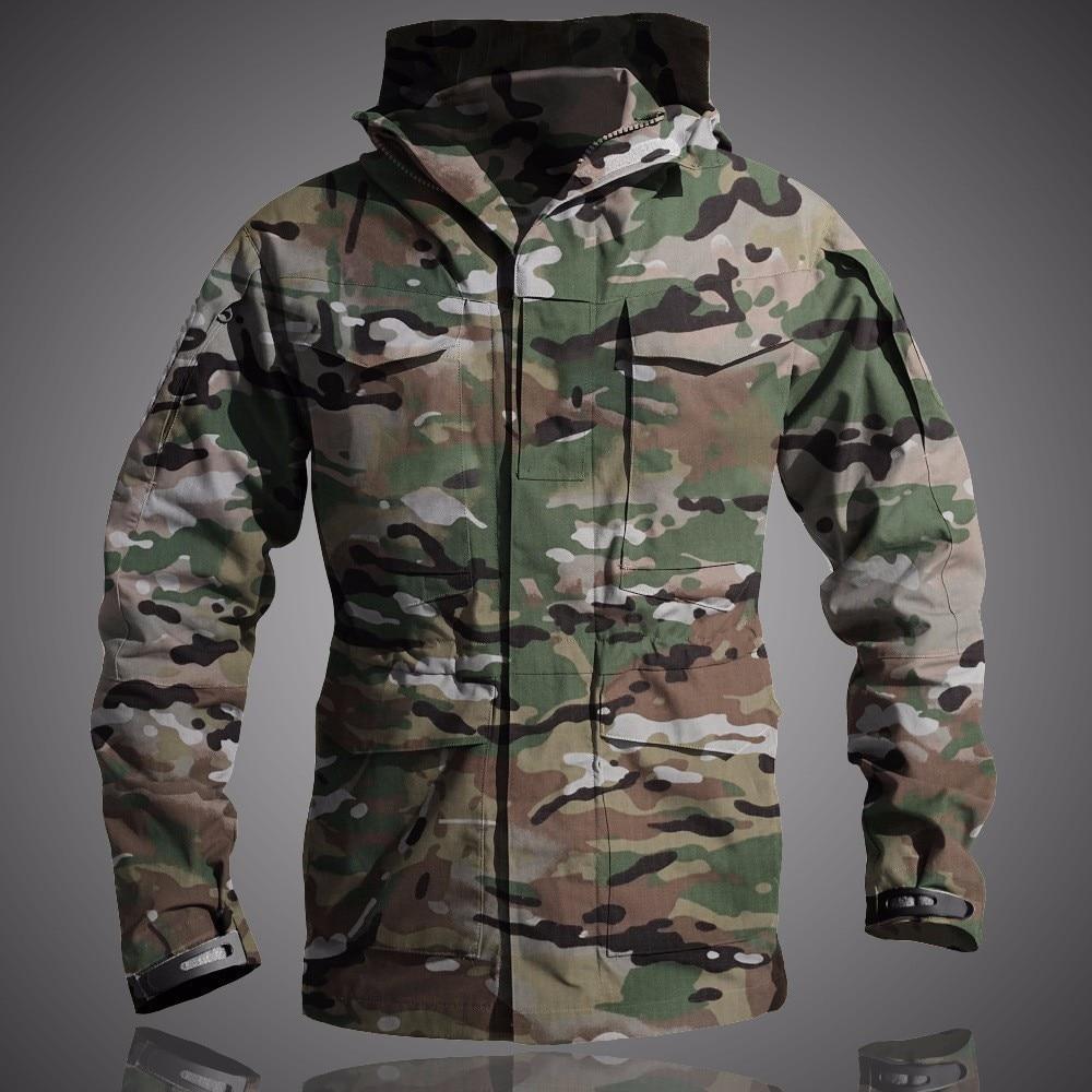Upgrade M65 Tactical Jacket Men US Army Waterproof Windbreaker Multi-Pocket Camouflage Military Outdoor Camping Hunting Coat