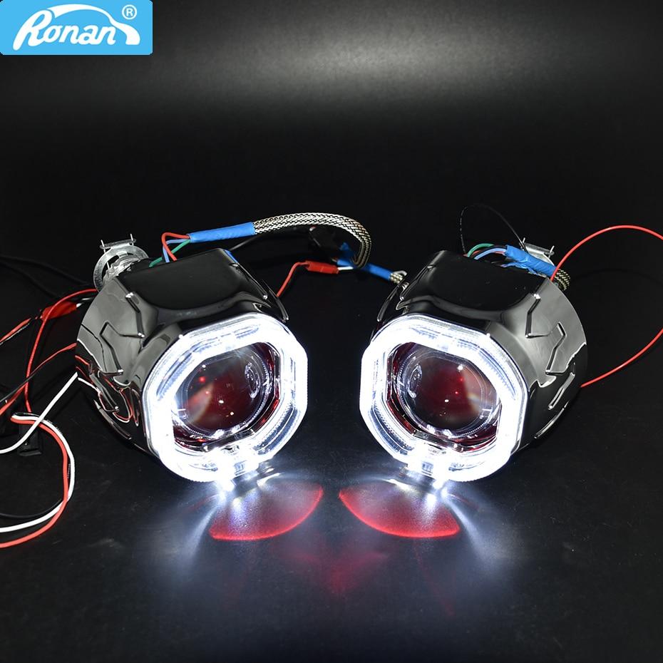 Ronan 2 5 bixenon 8 1 projector lens HID use H1 bulb h1H4 H7 socket with