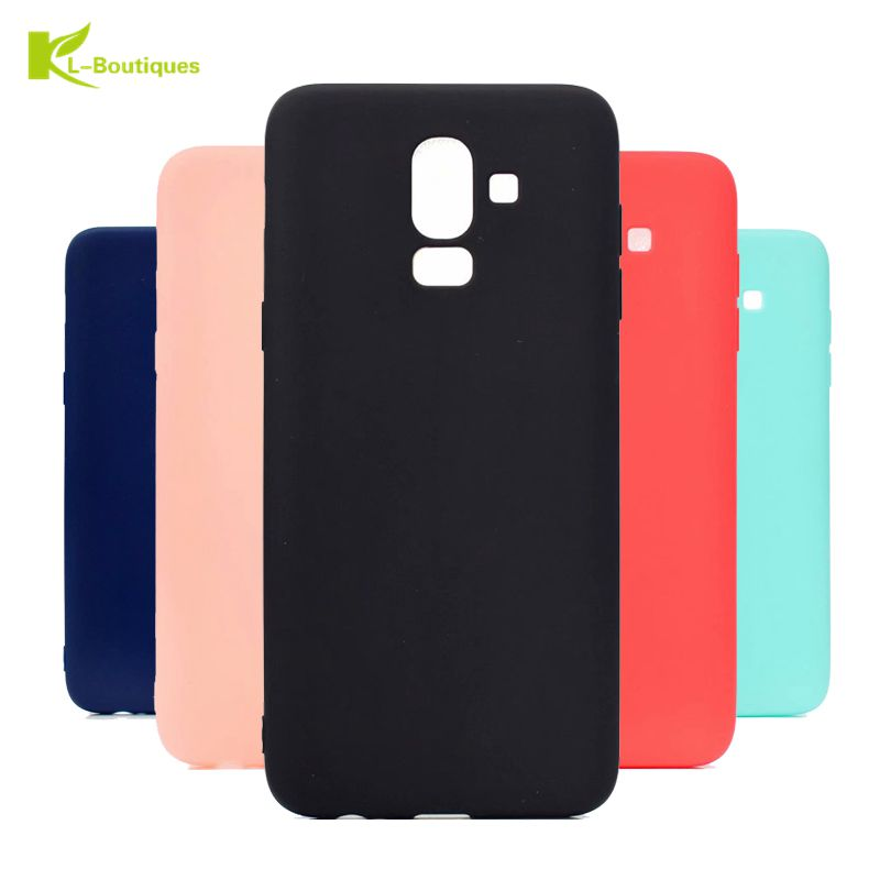 J8 2018 Soft Case on For Samsung Galaxy J8 2018 Candy Colors Slim TPU Case For Fundas Samsung J8 2018 Case Rubber Cover Coque