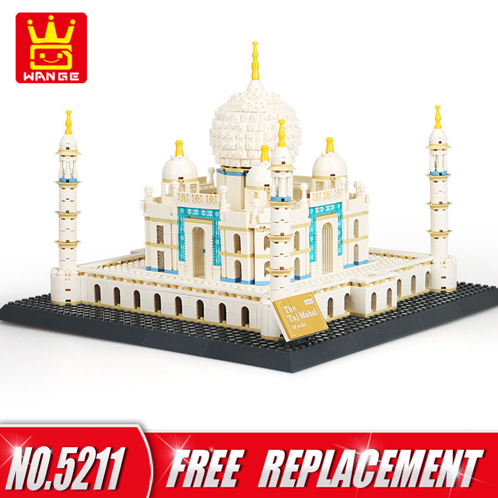 WANGE 1505pcs DIY Building Blocks Bricks TAJ MAHAL of AGRA  Educational Kids Toys for Home Decor NO.5211 hot sale 1000g dynamic amazing diy educational toys no mess indoor magic play sand children toys mars space sand