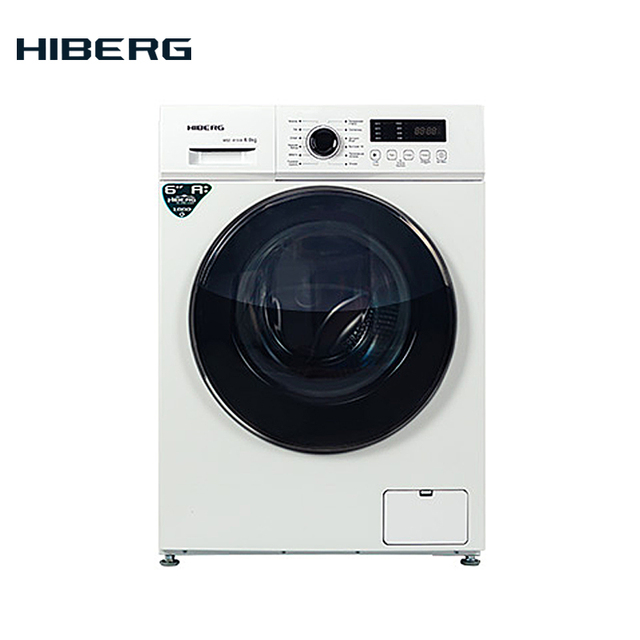 Стиральная машина HIBERG WQ2-610 W, 6 кг загрузки, 1000 об/минуту, класс А++, 12 программ