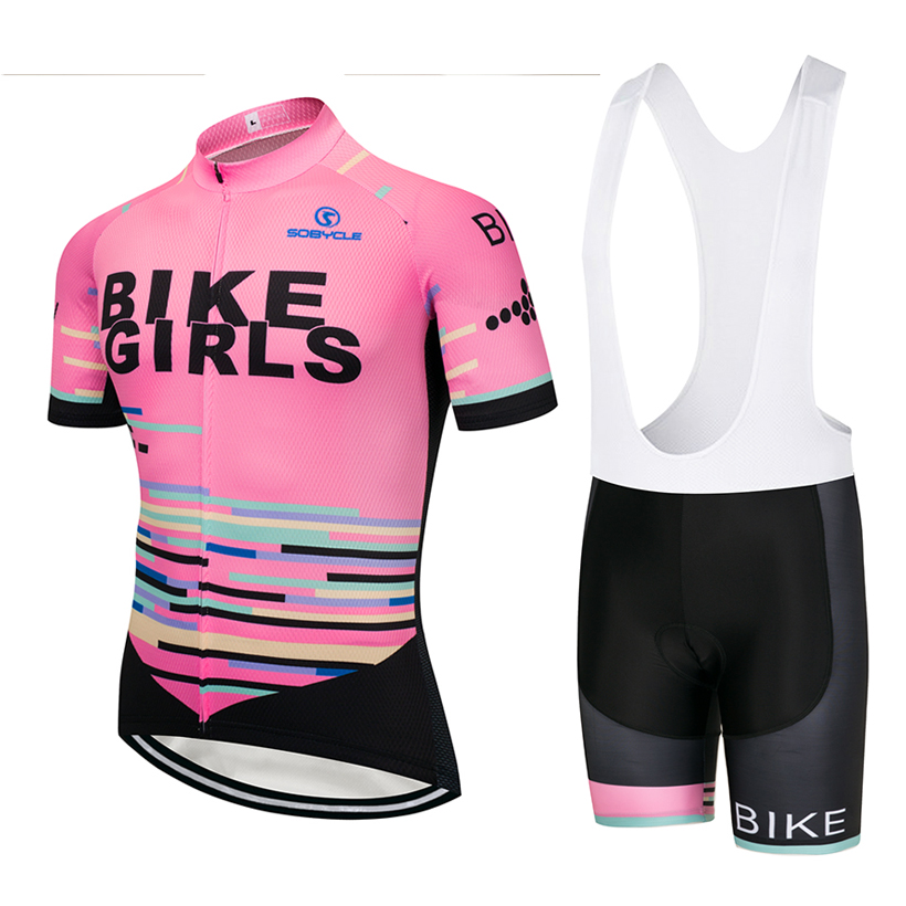 2018 BIKE GIRLS Cycling jersey gel Pad bike shorts suit Ropa Ciclismo mens summer quick-dry PRO BICYCLING Maillot Culotte