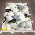 Черный  белый  серый Галька Камни Зеленый лист 3d печать микрофибра противоскользящая задняя моющаяся декоративная область килим ковер