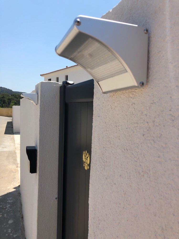 Lâmpadas solares Lâmpada Parede Alumínio