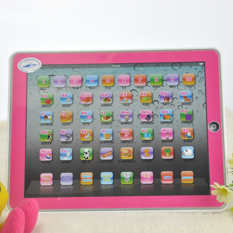 English Language Childrens Tablet Computer For Kinds YPad Computer Educational Toys Learning Machine Table Toys Music and Light
