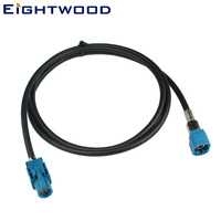 Eightwood FAKRA HSD Male to Female LVDS New Vehicle High speed Transmission Shielded Dacar 535 4 Core Cable