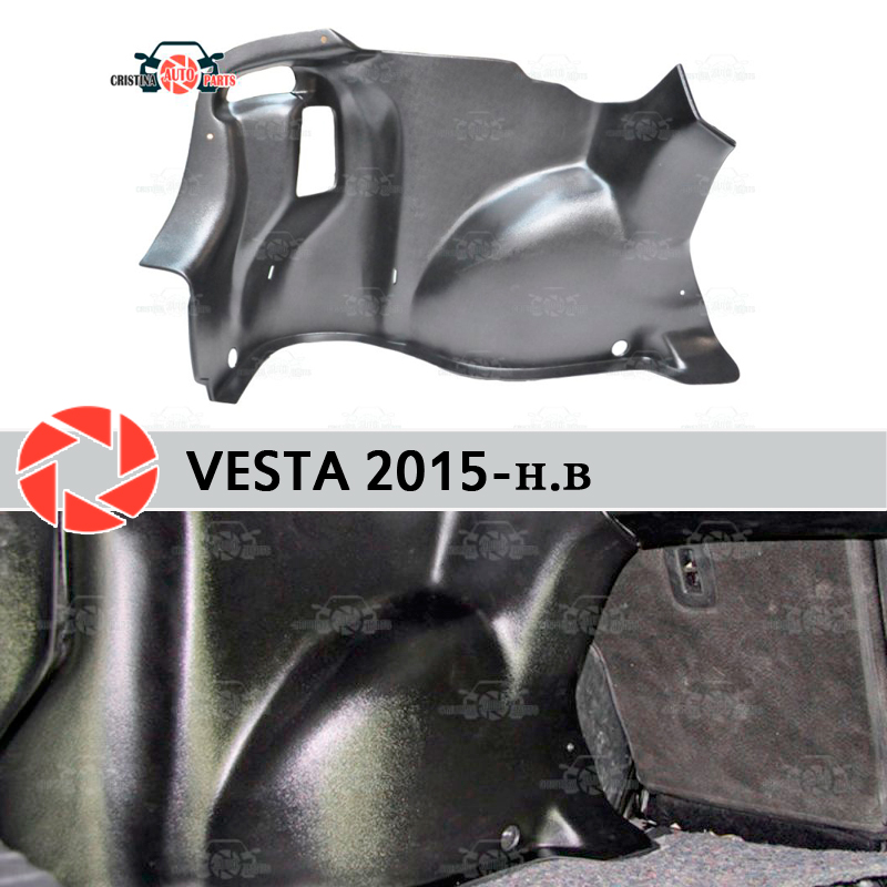 For Lada Vesta 2015- inner lining of the wheel arches to protect the carpet in the trunk accessories protection car styling h11 male to female wire harness sockets extension cable for car headlamp foglight