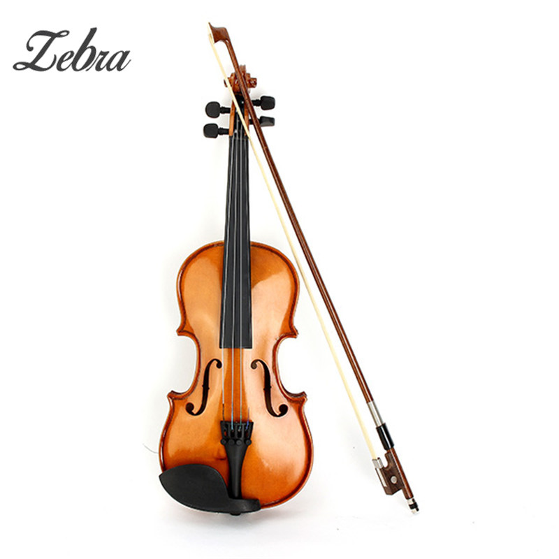 Zebra Spruce Solid Top 1/2 1/4 Violin with Case Rosin Bow Fiddle Stringed Instruments Kit Set for Children Kids Music Lovers handmade new solid maple wood brown acoustic violin violino 4 4 electric violin case bow included
