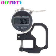 OOTDTY Electronic Thickness Micrometer Digital Thickness Meter Gauge 0.01mm Depth Tester