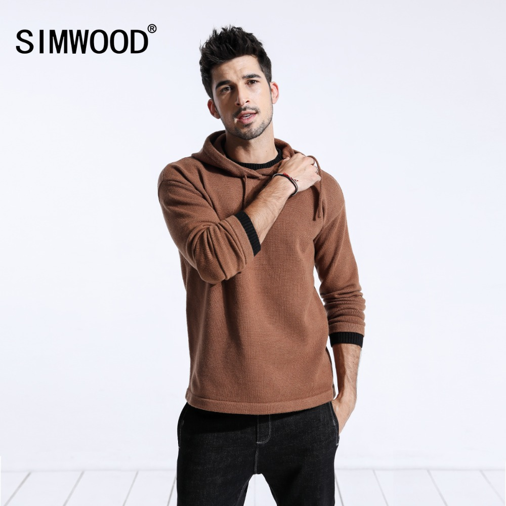 SIMWOOD 2019 Autumn Winter New Sweaters Men Casual Slim Fit Knitted Pullovers Men pull homme Brand Clothing Free Shipping 180461