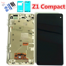 Original 4.3'' LCD for SONY Z1 Compact Display Touch Screen Digiziter LCD with Frame SONY Z1 Compact Display D5503 M51w Assembly