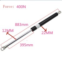 Free shipping 883mm central distance, 395 mm stroke 400n, pneumatic Auto Gas Spring, Lift Prop Gas Spring Damper
