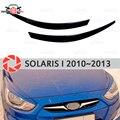Las cejas para Hyundai Solaris 2010-2013 para los faros de los cilios de pestañas de molduras de decoración de estilo de coche de moldeo