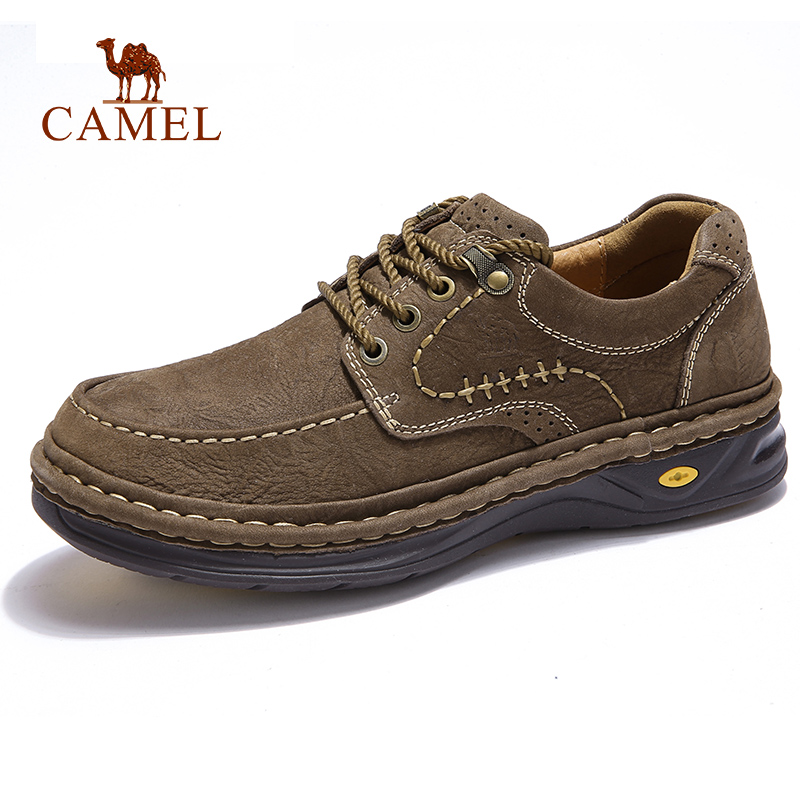 CAMEL New Autumn Genuine Leather Outdoor Casual Shoes Hand Stitching Thick Footwear Sewing Thread Man FlatsCAMEL New Autumn Genuine Leather Outdoor Casual Shoes Hand Stitching Thick Footwear Sewing Thread Man Flats