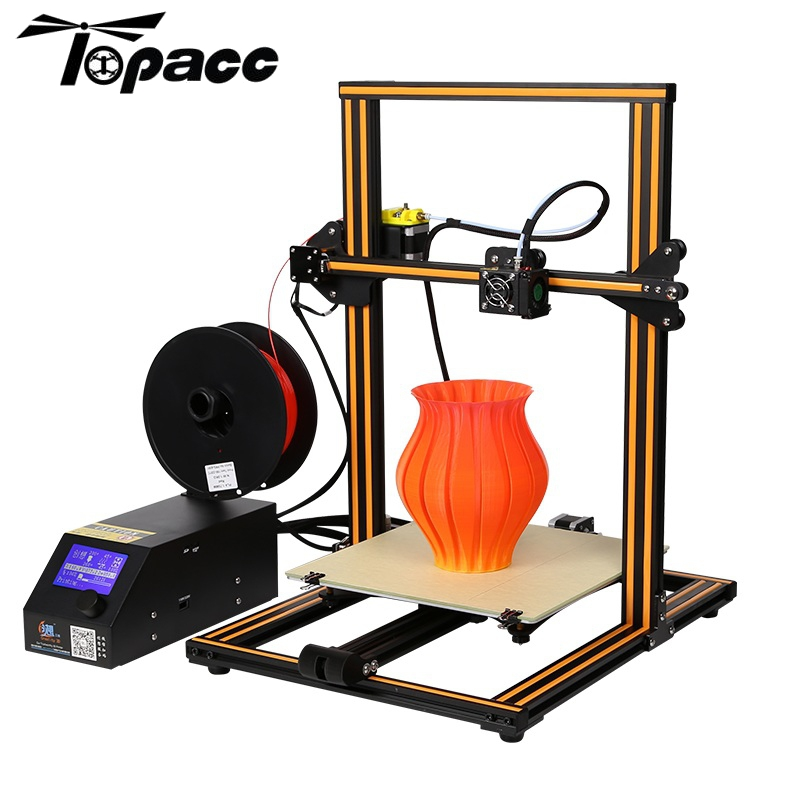 Creality 3D CR-10 DIY 3D Printer Kit 300*300*400mm Printing Size 1.75mm 0.4mm Nozzle ABS ,PLA filament with heated bed metal frame linear guide rail for xzy axix high quality precision prusa i3 plus creality 3d cr 10 400 400 3d printer diy kit