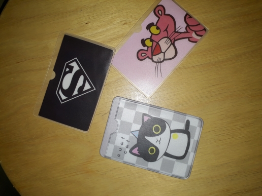 Catoon Waterproof Pink Panther Card Holder Pvc Plastic Card Protective Case To Protect Cards Student Cardholder 2 Card Bit photo review