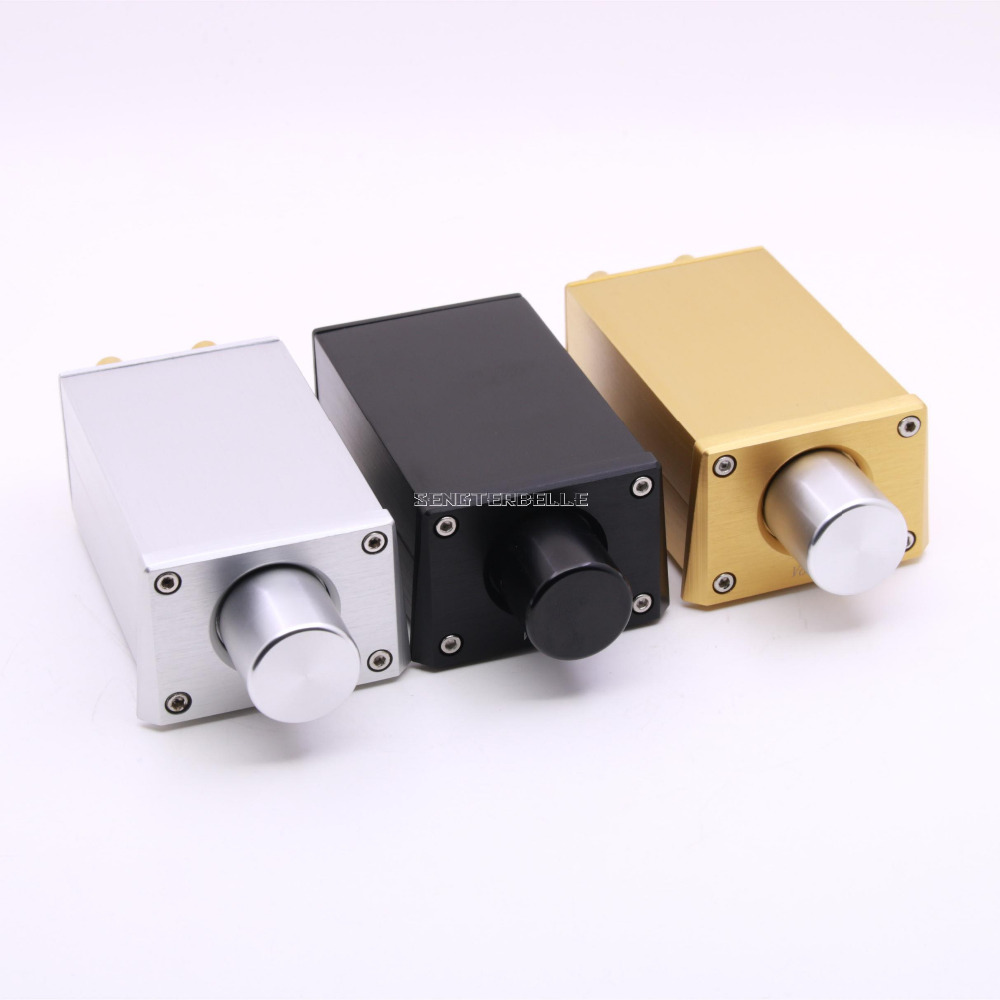 Finished Gold Black Silver FV3 High Precision Passive Preamp Volume Controller For Amplifier Active Speaker New