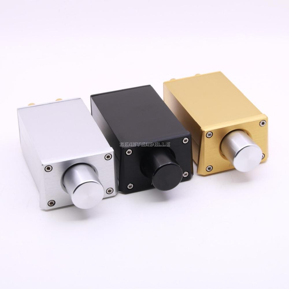 где купить Finished Gold/ Black/ Silver FV3 High Precision Passive Preamp/Volume Controller For Amplifier Active Speaker New дешево