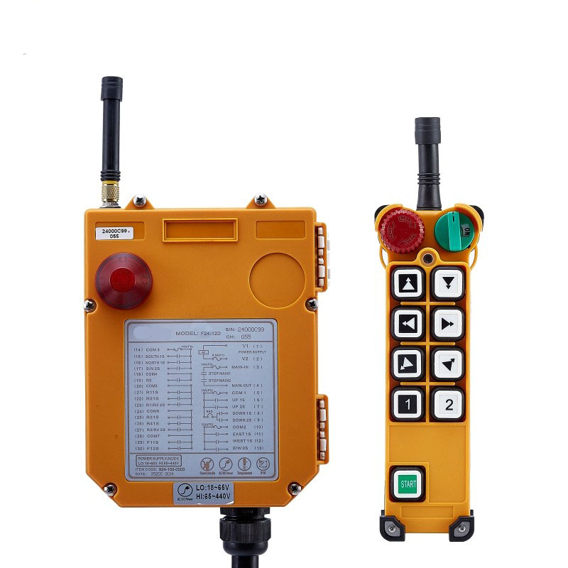 TELECRANE Wireless Double Speed Industrial Remote Controller Electric Hoist Remote Control 1 Transmitter 1 Receiver F24