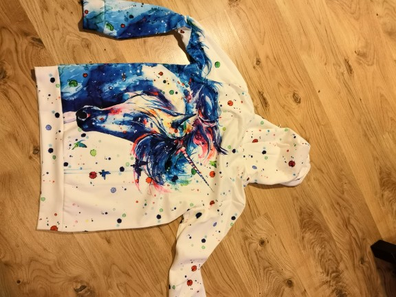 Blue Unicorn Hoodie photo review