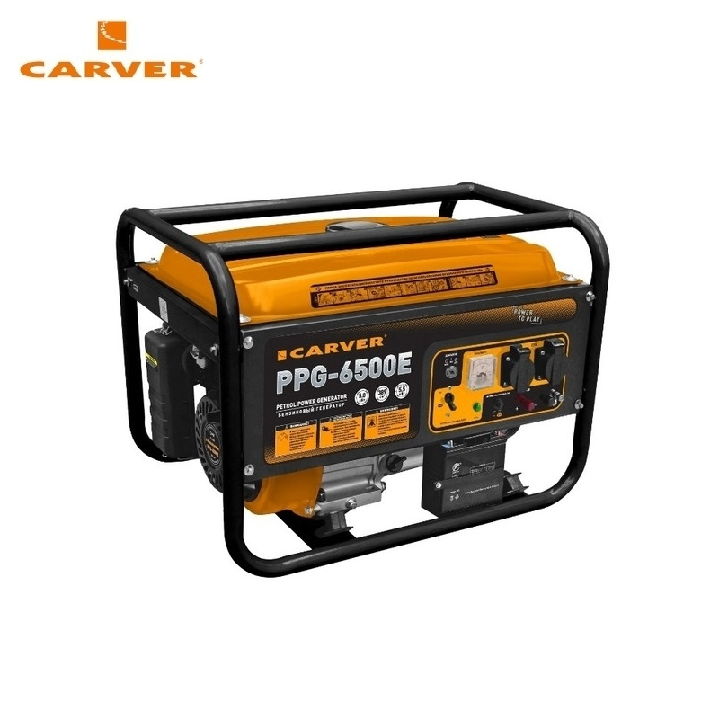 Petrol power generator CARVER PPG-6500E Power home appliances Backup source during power outages Benzine power stations цена