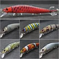 WLure Minnow Crankbait cebo duro apretado Wobble lento se hunde Jerkbait realista RealSkin pintura de señuelo de pesca HM262S