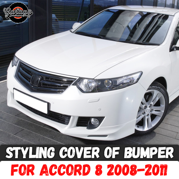 Styling Cover Of Bumper Case For Honda Accord 8 2008-2011 Front Skirt ABS Plastic Body Kit Accessories Car Tuning Styling