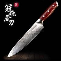 Damascus Kitchen Knife vg10 Japanese Damascus Chef Santoku Kitchen Knives Best Gift Cooking Tools Grandsharp Brand High Quality