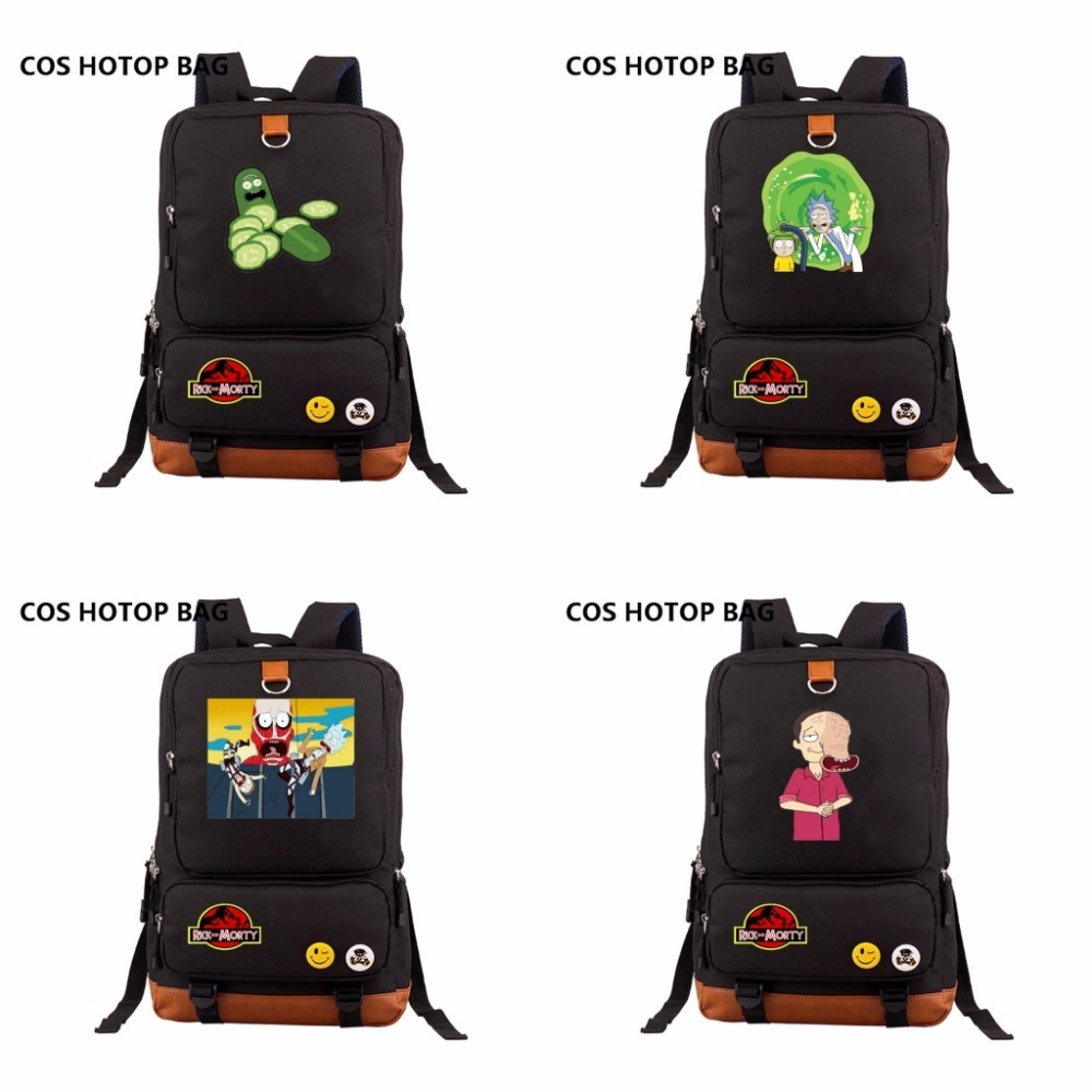 anime Rick and Morty Backpack Men Womens travel Shoulder Bag Laptop Bags Canvas Teenagers Student School Bags Casual packsackanime Rick and Morty Backpack Men Womens travel Shoulder Bag Laptop Bags Canvas Teenagers Student School Bags Casual packsack