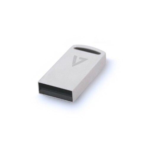 V7 128 GB Nano USB 3.1 Flash Drive, 128 GB, USB de type-Un, 3.0 (3.1 Gen 1), 100 Mo/S, Capless, Argent