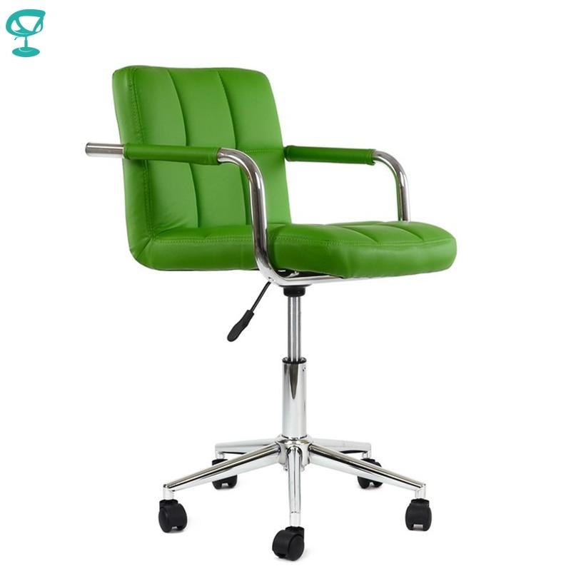 95229 Barneo N-69 cuir rouleau cuisine chaise pivotant Bar chaise vert livraison gratuite en russie