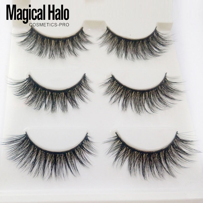 3 Pairs/set Mink Eyelashes 3D Mink Lashes Thick HandMade Full Strip Lashes Cruelty Korean Mink False Eyelashes