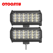 2X 108W Cree Chips 6D LED Work Lgiht Lamp Spot Flood Beam 6500K Driving Light Bar Front With Car Patient Kit 12V 24V