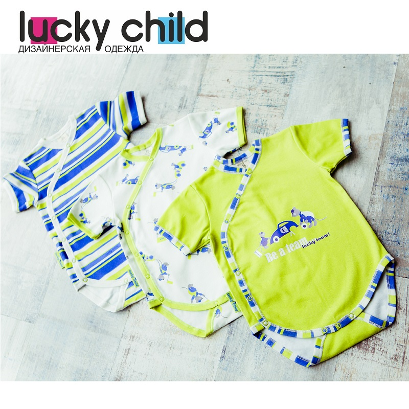 Bodysuits Lucky Child for boys 30-113/3 Newborns Tanks Tops Babies Baby Clothing Children clothes made in russia