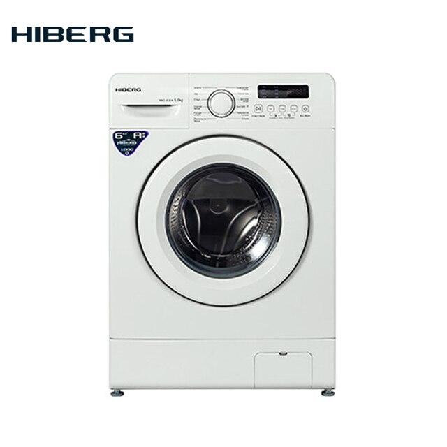 Стиральная машина HIBERG WM2-610 W, белая, 6 кг, 1000 об/мин., А++ класс энергоэффективности