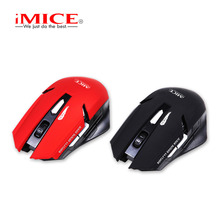 iMice Silent Ergonomic 2 4GHz Wireless Mouse 6 Buttons Cordless PC Computer Gaming Mouse Mice E-1700 Computer Office Peripherals cheap Bluetooth Left Finger Dec-04 1600 Opto-electronic Battery