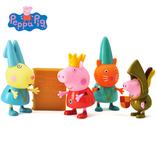 Original Peppa George Pig Friends Learning Classroom Scene Action Figures Toy Peppa Princess Figures Children Toy Gift