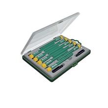 Набор отвёрток KRAFTOOL 25616-H12 (12 предметов, типы шлица SL PH TX, специальная отвертка Cover opene, пластиковый бокс)