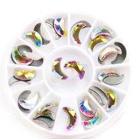 36Pcs 5x8,6x10mm 2554 Crystal AB Moon Flatback HotFix 3D Rhinestone Painting Diy Decorative Rhinestone Skirt Crystal