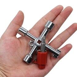 Installateure Multi-tool 4 3-wege-gasventil Stromzähler Box Kühler Sanitär Werkzeug Installateure Versorgungsunternehmen Gas Wasser Tasten New