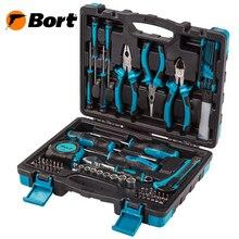 Набор ручного инструмента BORT BTK-82 (82 предмета из углеродистой стали, кейс в комплекте)