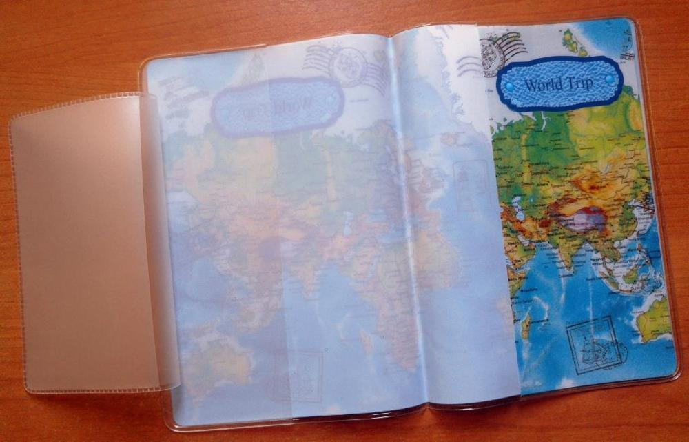 Travel Utility Simple Passport ID Card Cover Holder Case Protector Skin PVC New photo review